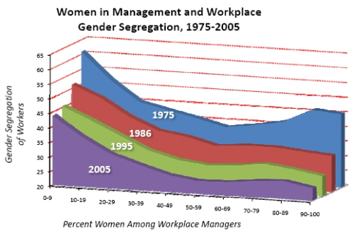 sex segregation in the workplace essay Occupational gender segregation is a strong feature of the us labor market while some occupations have become increasingly integrated over time, others remain highly dominated by either men or women.