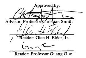 Regnerus dissertation signature page.